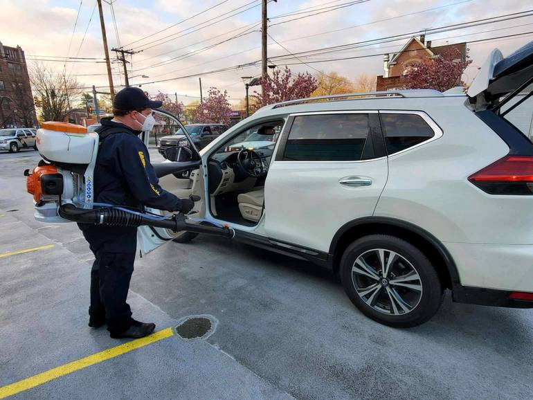 2020 BCSO sanitizing  car at HUMA on April 25 from BCSO.jpg