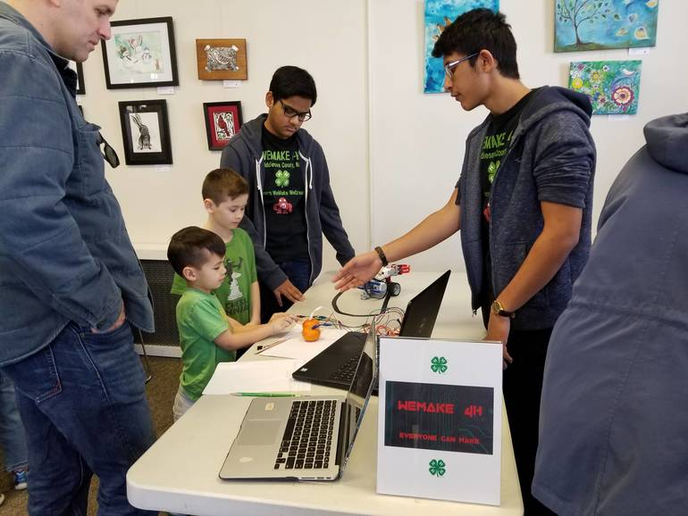 WeMake 4-H Celebrated NJ Makers Day at Metuchen Library