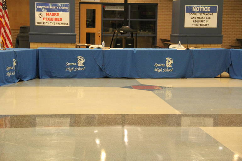 Sparta Board of Education Feb Meeting Agenda: Administrative Changes at High School, Middle School