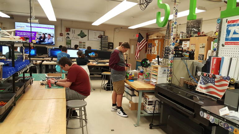 Newton High School STEM Lab Gottheimer