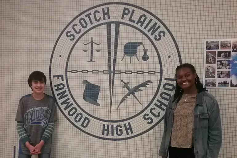 Paul Mullarkey and Joy Lytch are the Scotch Plains-Fanwood High School Students of the Month for February 2020