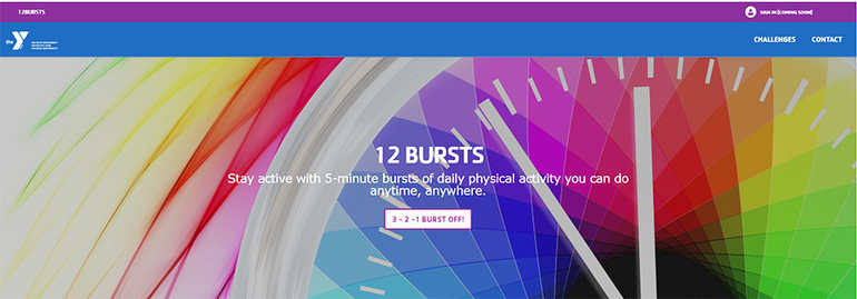 The Y's 12Bursts Brings Daily Exercise to Kids and Families at Home