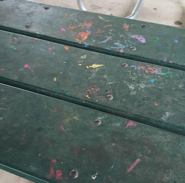 Tables at La Grande Park in Fanwood