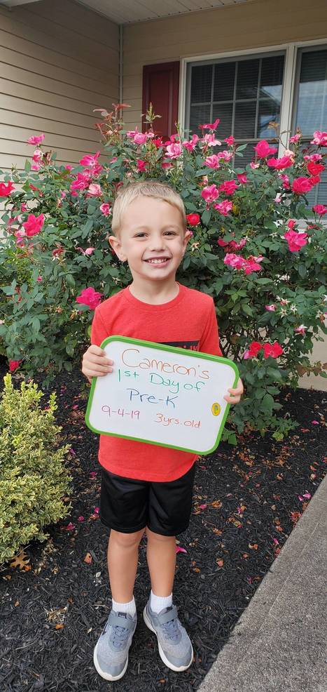 Cameron's first day of pre-K