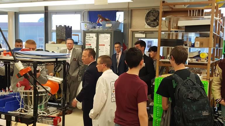 Newton High School CADD Lab Gottheimer visit