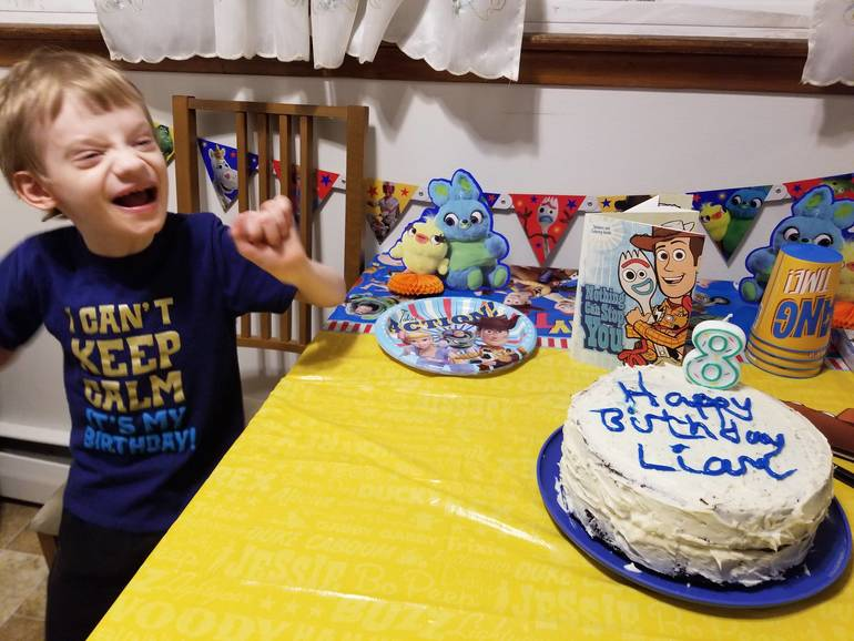 Liam celebrates his 8th birthday.