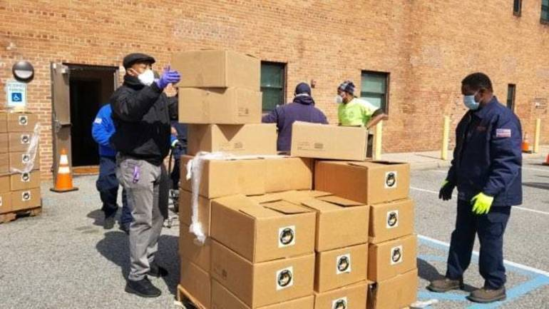 14 Tons of Emergency Food Packages to East Orange Residents Donated by Community Food Bank of NJ and Interfaith Food Pantry of the Oranges