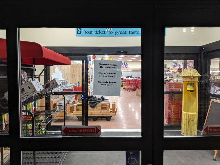 The front of the store at the new Trader Joe's