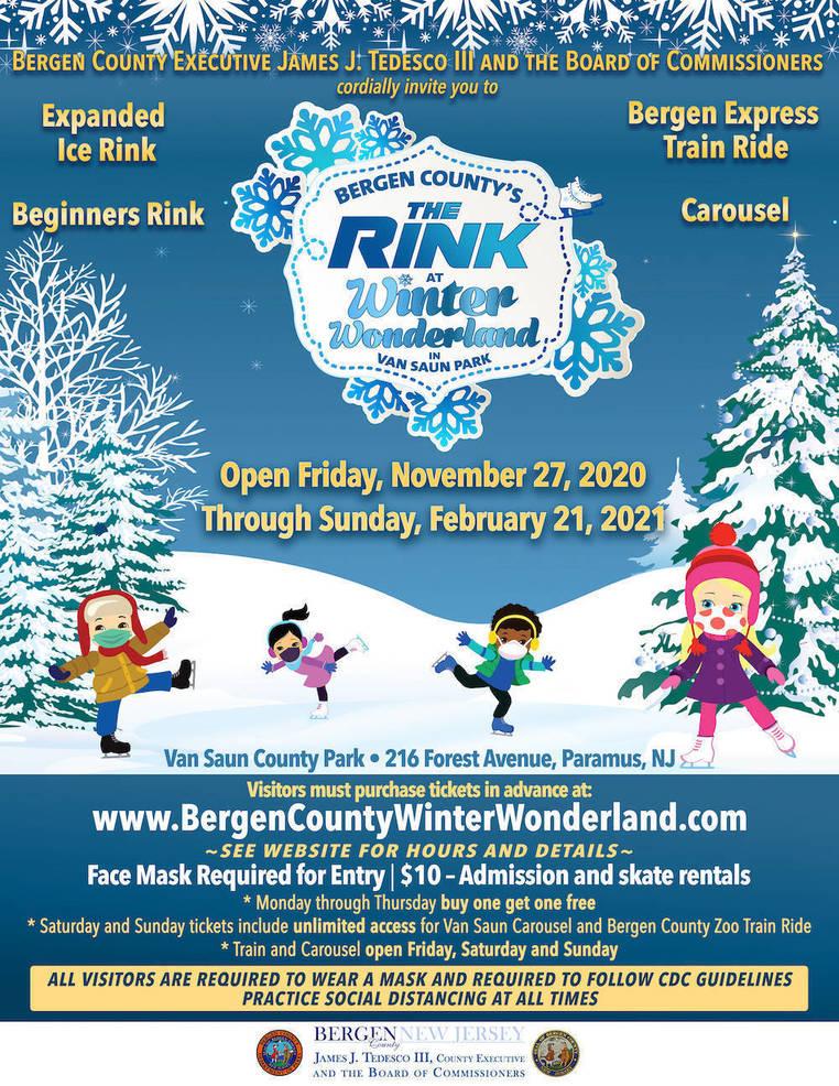 'The Rink @ Winter Wonderland' Returns to Van Saun County Park in Paramus On Nov. 27