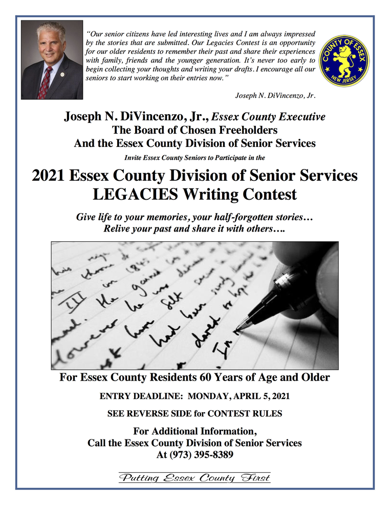 Annual 'Legacies' Writing Contest For Older Adults Now Accepting 2021 Entries