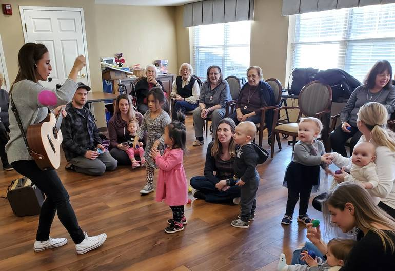 A Performance For Young and Old at Wayne's Brookdale Senior Living