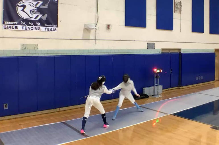 Best crop abb027abba2e8236f8e1 2021 fencing girls vs wmc zaina