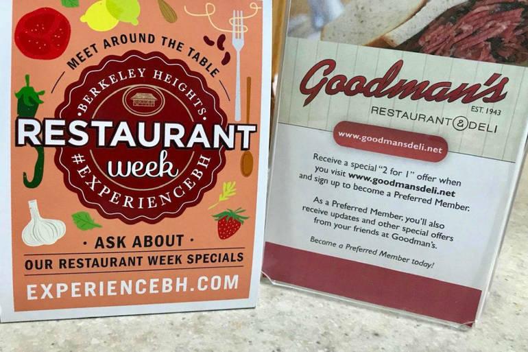 Look for specials during Berkeley Heights Restaurant Week