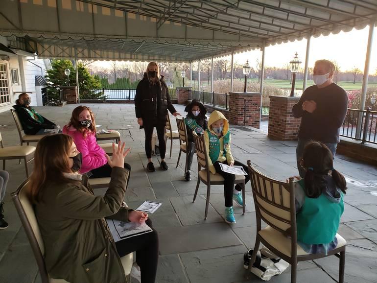 West Orange Mayor Parisi Visits with Girl Scout Troop
