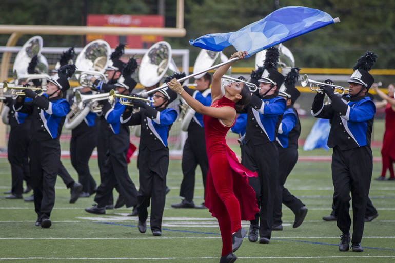 Scotch Plains Fanwood High School Marching Band took first place in Edison  competition on Saturday.