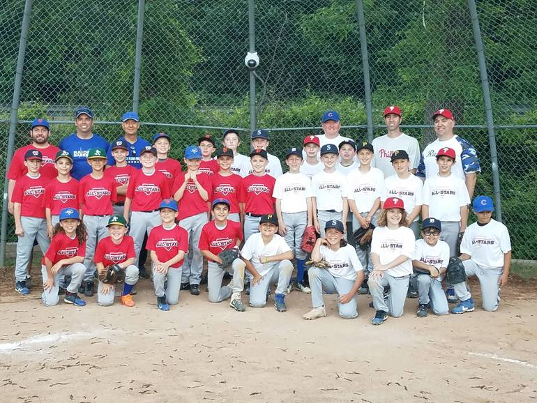 Red Team All-Stars at Scotch Plains-Fanwood Baseball League's Booth Field