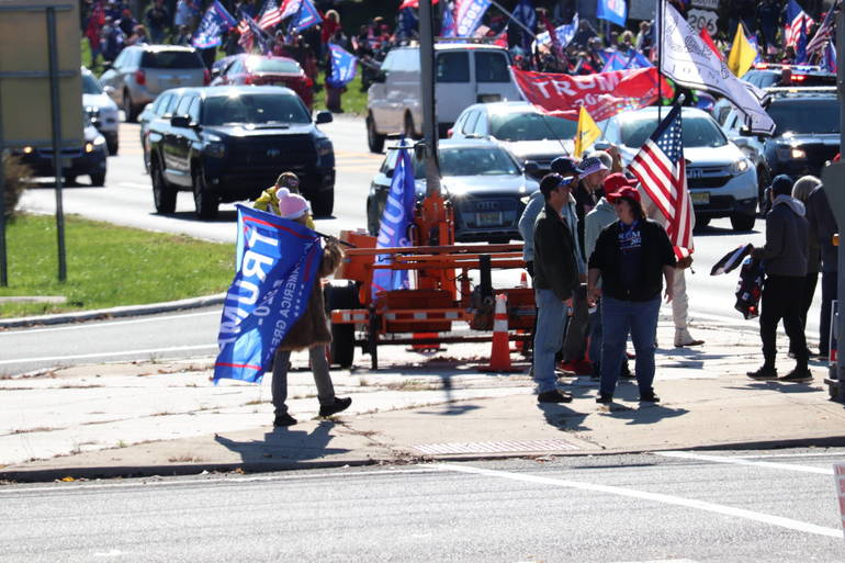 Trump Truck Parades Converged on Bedminster Last Weekend