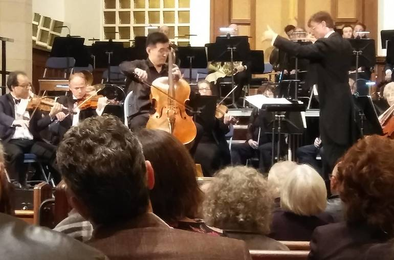 Cellist Jiapeng Nie and Conductor David Wroe