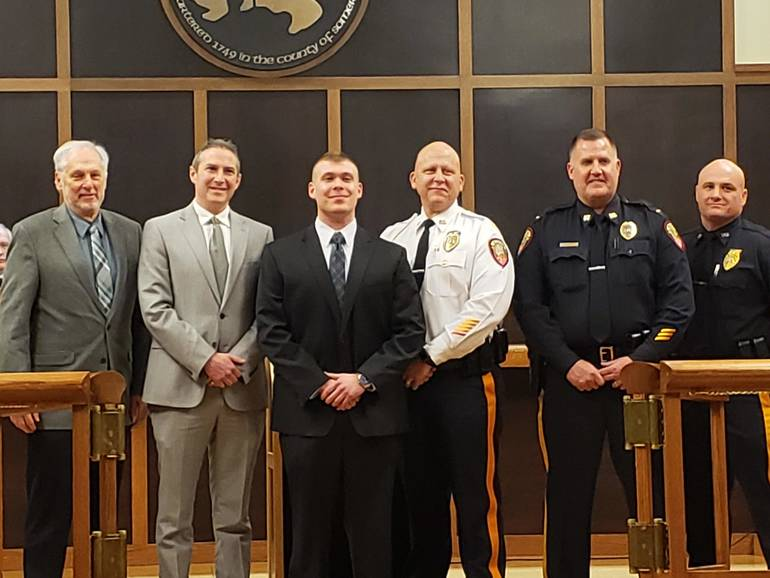 Bridgewater Township Swears in New Officer to Police Department