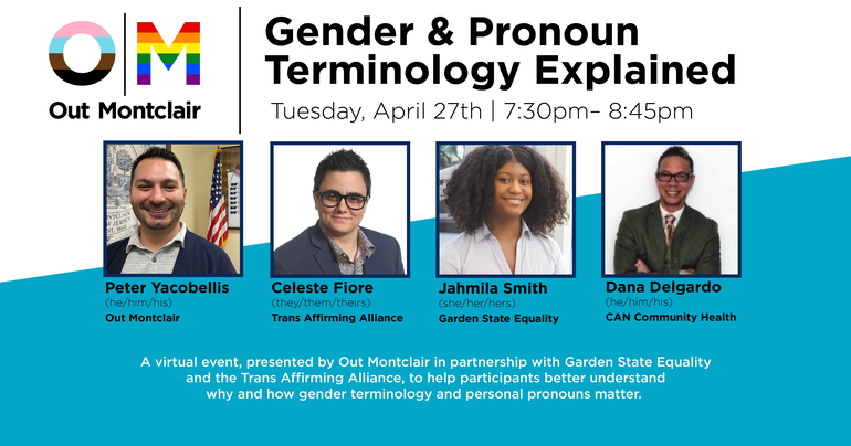Out Montclair Hosts its First Event Tonight: Gender & Pronoun Terminology in 2021
