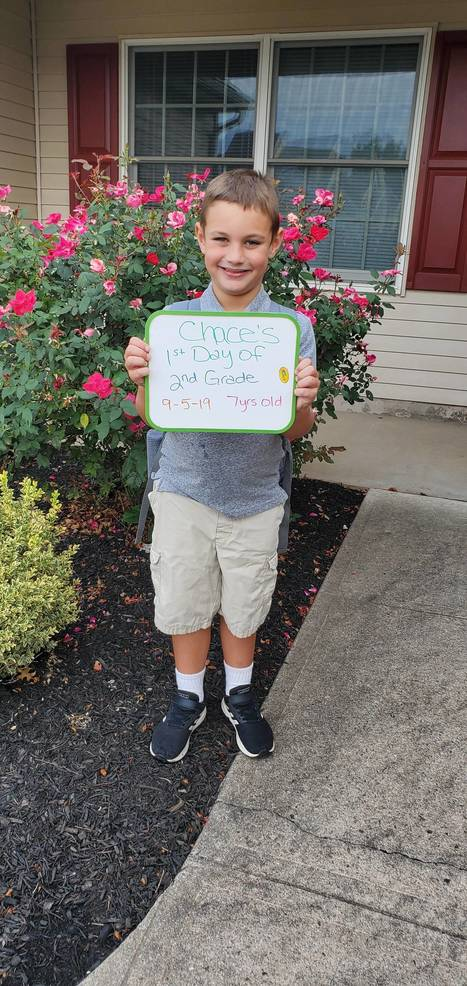 Chase's first day of second grade
