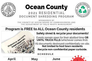 Safely Shred and Recycle your Documents this Saturday, June 5 in Waretown