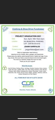 Hasbrouck Heights' Project Graduation to Hold Spring Clothing Drive in April