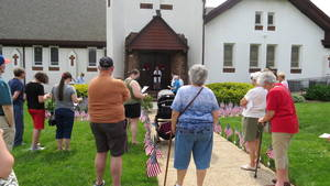 Hasbrouck Heights Church Honors the Fallen with Memorial Flag Garden