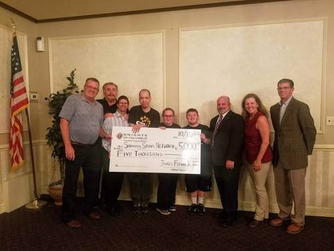 Top story 367799ebe2b1bba7aafc 2019 k of c golf ouitng donation   shining stars network