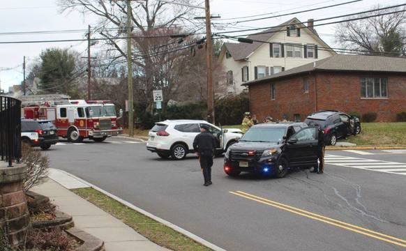 Nutley Police, Fire, EMS Respond to Two Vehicle Crash Sunday