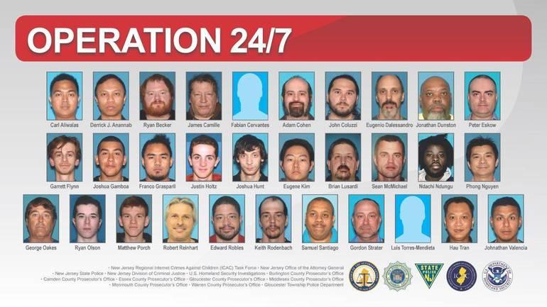 Operation 24/7 Results in Arrest of 31 Online Child Predators