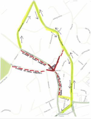Claremont Road at Seney Drive and Mine Mount Road in Bernardsville Closed This Week