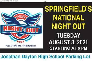 Springfield's National Night Out Set for Tuesday, Aug. 3
