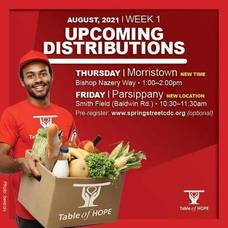 Morristown's Free Food Distribution Will Take Place on Thursday