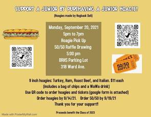 Purchase a Hoagie and Support the BRHS Junior Class