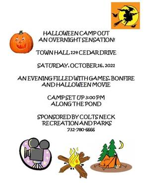 Colts Neck Annual Camp-Out, October 16, Festivities are for all to enjoy