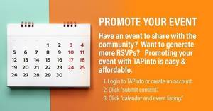 Promoting your event on TAPinto Morristown is easy and affordable!