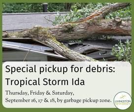 Livingston Township Arranges for Special Pickup of Storm-Damaged Debris Only
