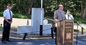 Randolph Mayor Mark Forstenhausler Addresses Attendees at VFW's Service to Remember 9/11