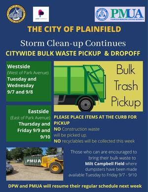Plainfield Recycling Pickup Suspended as Ida Cleanup Continues