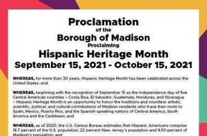 Madison Mayor Proclaims Hispanic Heritage Month in Madison