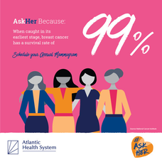 #AskHer Campaign; Schedule Your Mammogram Today With Atlantic Health