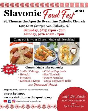 """Rahway's St. Thomas Church Holding """"Take-Out"""" Festival Celebrating Food, Culture, and Heritage"""
