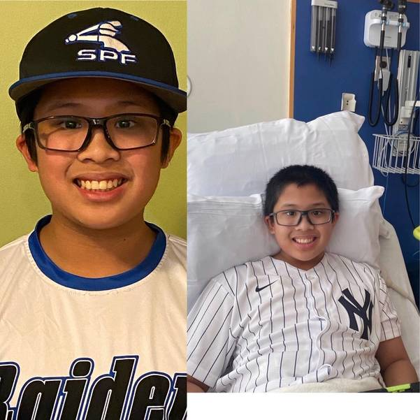 Not even a cancer diagnosis can wipe the smile off of Scotch Plains-Fanwood Baseball League player Jacob Benedicto's face!