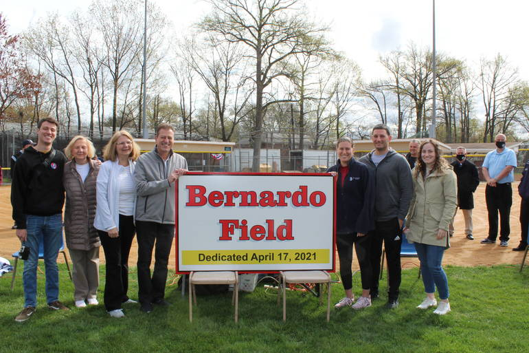 Ralph Bernardo and family at Field Naming Ceremony