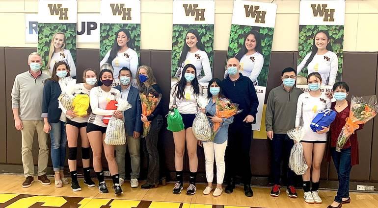 WHRHS Girls Volleyball: Watchung Hills Celebrates Seniors, Falls to Hillsborough