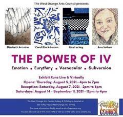 "West Orange Art Council's ""The Power of IV"" Exhibit Premieres in August"