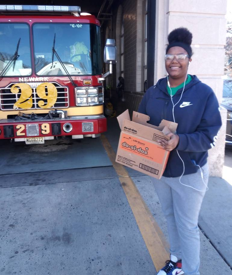3-30-2020--Samiyah Webster COVID-19 Cookie delivery to firehous.jpg