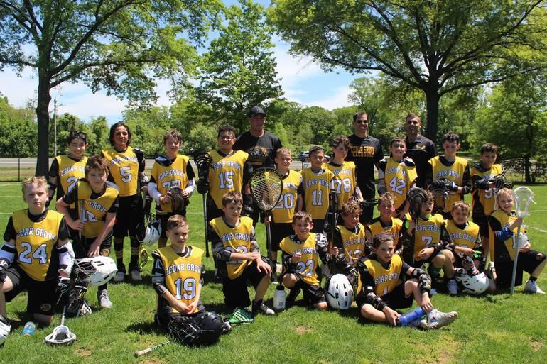 Cedar Grove 3/4 Boys Lacrosse Team