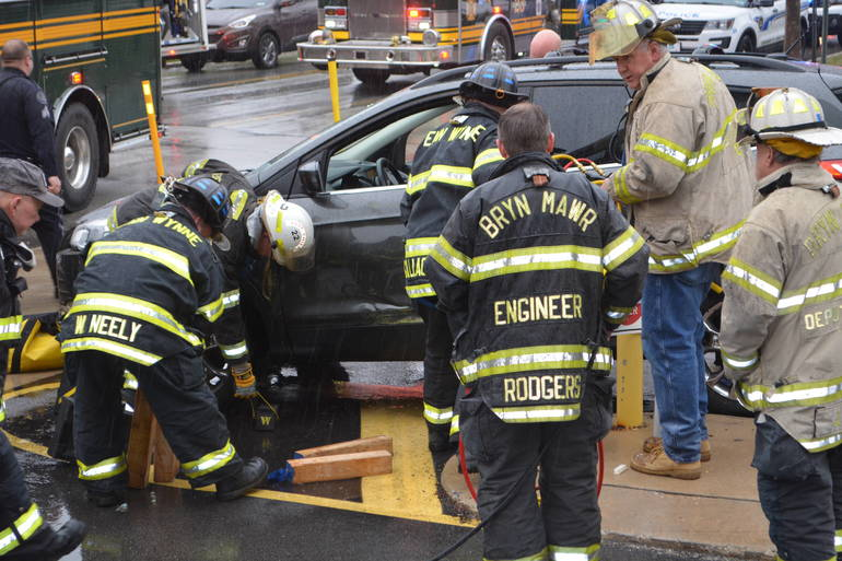 35 S. Bryn Mawr Ave 3-25-2019 Woman pinned by auto at parking lot (40).JPG